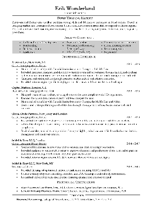 RY Resume example after
