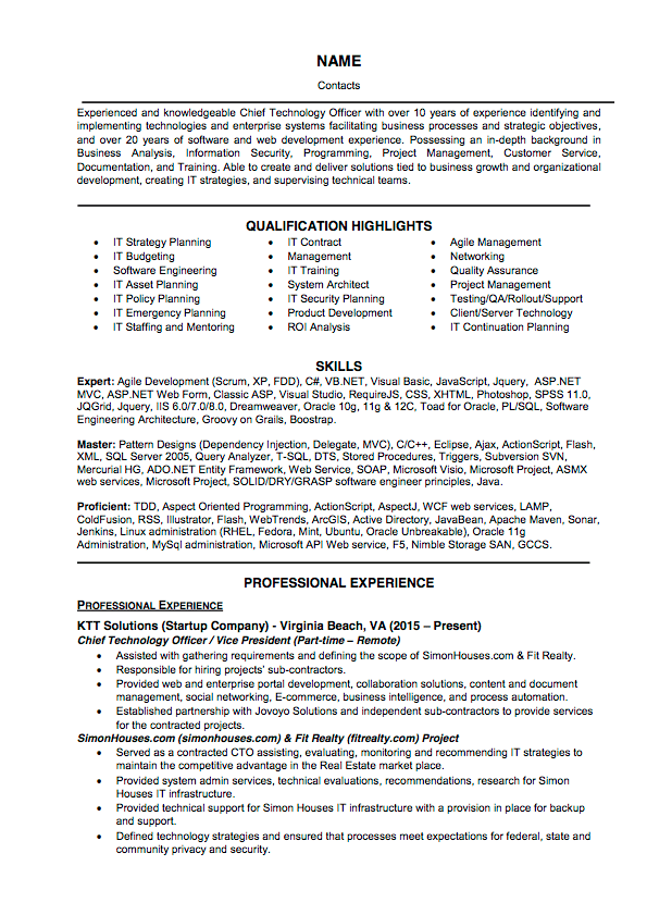 Basic Resume Samples and Library | ResumeYard