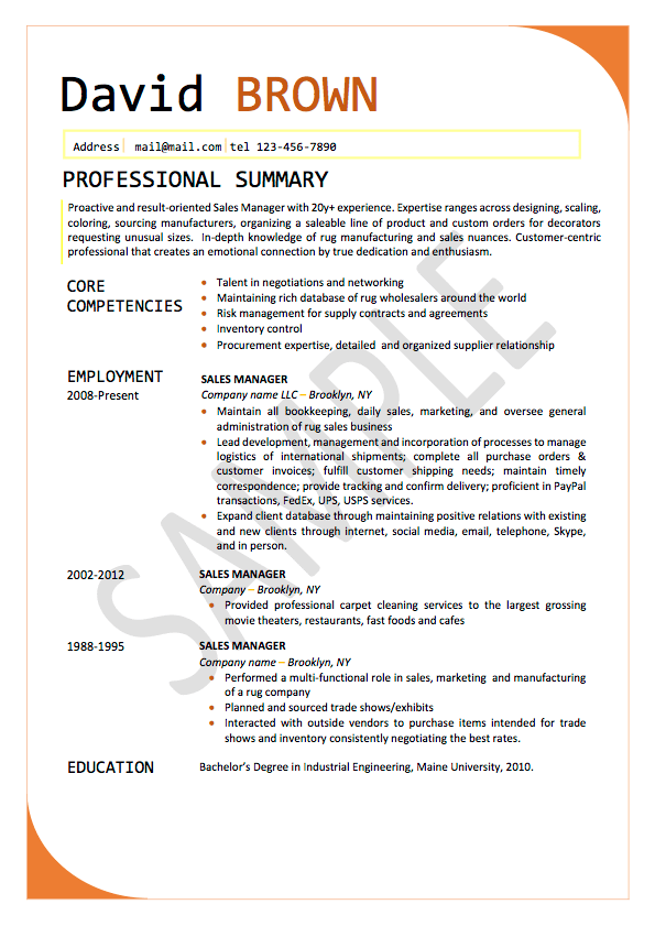 basic resume samples and library